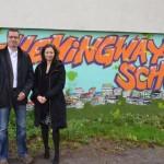 Besuch der Hemingway-Schule in Mitte